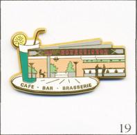 """Pin's Alimentation - Bar Brasserie """"Au Bourguignon"""" à Paris. Estampillé L.B Création. Zamac. T742-19 - Alimentación"""