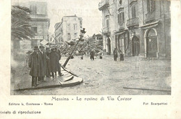 ITALIE MESSINA LE ROVINE DI VIA CAVOUR - Messina