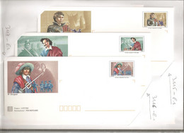 France, Prêt à Poster, 3115/3120, Lot 6 PAP, Neuf **, TTB, Lancelot, Pardaillan, D'Artagnan, Cyrano, Fracasse, Le Bossu - PAP : Altri (1995-...)