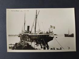 """Carte Photo Bateau - """"Ville De Rome"""" De La CGT échoué En 1898 - Paquebote"""