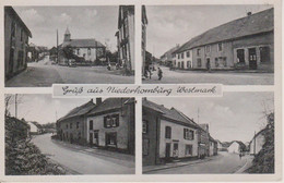 57 - HOMBOURG BAS - 4 VUES - CARTE GERMANISEE - LEBENSMITTEL ARWEILER - Sonstige Gemeinden