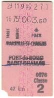 France Marseille Saint Charles > Port-De-Bouc + Saint Chamas Edmondson Fahrkarte Boleto Biglietto Ticket Billet - Europa