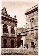 SICILY ITALY~ERICE-PIAZZA UMBERTO I-BIBLIOTECA E MUSEO-PHOTO POSTCARD 49913 - Trapani