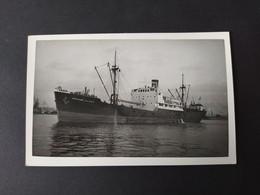 """Carte Photo Bateau - """"CAPITAINE JEAN DOLO"""" Cargo De L'Union Industrielle Et Maritime - Comercio"""