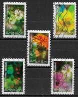 France 2019  Oblitéré Autoadhésif  N° 1708 - 1710 - 1712 - 1713 - 1716   -  Eclosions - Adhesive Stamps