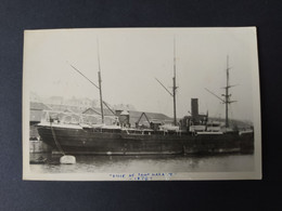 """Carte Photo Bateau - """"VILLE DE SAINT NAZAIRE"""" Compagnie Générale Transatlantique - Paquebote"""