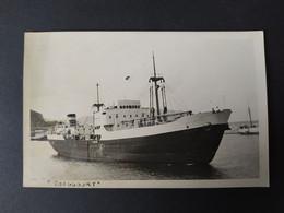 """Carte Photo Bateau - """"TOUGGOURT"""" Cargo De La Compagnie De Navigation Mixte - Comercio"""