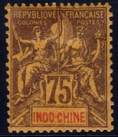 ✔️ Indochine 1892 -  Mouchon Groupé - Yv. 14 * MH - €26 - Ungebraucht
