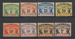Côte D'Ivoire - 1906 - Taxe TT N°Yv. 1 à 8 - Série Complète - Neuf * / MH VF - Nuovi