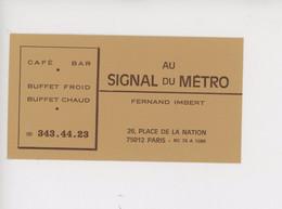 "Paris 12è ""Au Signal Du Métro"" Fernand Imbert, Place Nation, Café - Bar - Buffet Froid Chaud - Bar, Alberghi, Ristoranti"