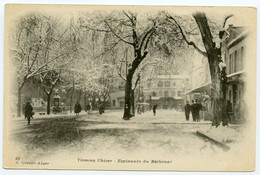 7/ CPA TLEMCEN  L'hiver ( Neige ) 42  Esplanade Du Méchouar    J. GEISER - Tlemcen