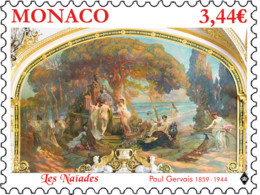 Monaco 2019 Art Nu Naïades Ou Jardin Des Hespérides By Gervais  Painting 1v Mnh - Nuovi