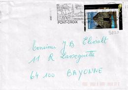 TP N° 3823 Seul Sur Enveloppe De Pont Croix - 1961-....