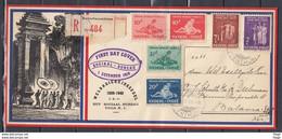 Recommandé Brief Van Batavia Naar BataviaCentrum Weldadigheidszegel First Day Cover Sociaal Bureau (439) - Netherlands Indies