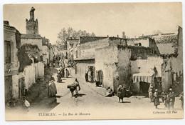 7/ CPA TLEMCEN  2 La Rue De Mascara   ND Phot - Tlemcen