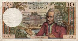 FRANCIA 10 FRANCS 1967.G.   P-147 - 10 F 1963-1973 ''Voltaire''