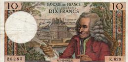 FRANCIA 10 FRANCS 1972.G.   P-147 - 10 F 1963-1973 ''Voltaire''