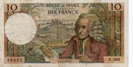 FRANCIA 10 FRANCS 1970.P.   P-147 - 10 F 1963-1973 ''Voltaire''