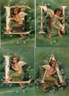 Lot De 4 Carte Postales Modernes - ANGES Avec LETTRE - N.A.E.L. - - Angeli