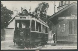 Photo Cartonnée Repro CP Ou Photo ? - Noisy-le-Grand - Tramway Ligne 120 à Sa Halte - Voir 2 Scans - Noisy Le Grand