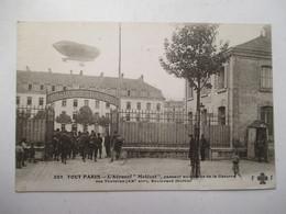 """TOUT  PARIS  -  L ' AERONEF  """"  MALECOT  """" AU  DESSUS  DE  LA  CASERNE  DES  TOURELLES         ....        TTB - Lotti, Serie, Collezioni"""
