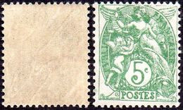 France Blanc N°  111 ** Le 5 Cts Vert Au Type IIA - 1900-29 Blanc