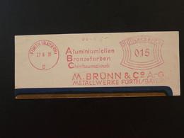 EMA Slogan Meter Aluminium Furth Deutsches Reich 1931 - Affrancature Meccaniche Rosse (EMA)