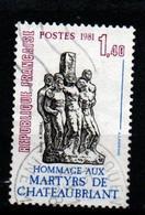 France 1981  YT 2177 Monument National De La Résistance Française  - Martyrs De Chateaubriand - Non Classés