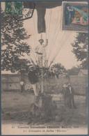 """Exposition Internationale D' Electricité , Marseille Les Aéronautes Du Ballon """" Eléctric """"  Pli Coin Droit  Bas , Animée - Weltausstellung Elektrizität 1908 U.a."""