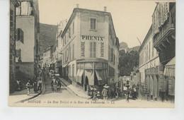 AFRIQUE - ALGERIE - BOUGIE - La Rue Trézel Et La Rue Des Vieillards (BRASSERIE PHENIX ) - Bejaia (Bougie)