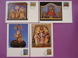 Carte Maximum Card (x4) Noel Christmas Liechtenstein 1976 - Maximumkaarten
