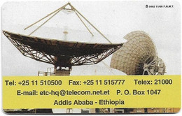 Ethiopia - ETC (Chip) - Satellite Dish (No Stamp On Back), Siemens S35, 100Units, Used - Ethiopia