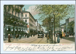 XX009573-04./ Leipzig Göthestraße Straßenbahn 1906 AK - Leipzig