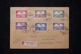 LUXEMBOURG - Enveloppe En Recommandé En 1935 Par Avion Pour La France, Affranchissement P.A. - L 77120 - Covers & Documents