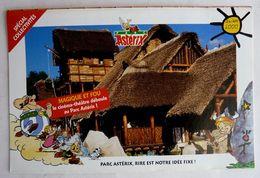 ASTERIX DEPLIANT  PARC SAISON 2000 Spécial Collectivités - Werbeobjekte