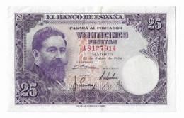 Billet Espagne 25 Pesetas 22-juillet-1954 - 25 Pesetas