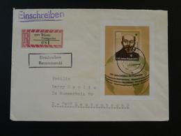 Lettre Recommandée Registered Cover Esperanto Zamenhof Ribnitz DDR 1987 - Esperanto