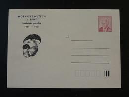 Champignon Mushroom Entier Postal Stationery Tchecoslovaquie 1987 - Mushrooms