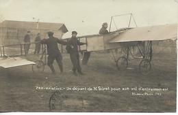 AVIATION Avion Aviateur PAU AVIATION Pyrénées Atlantiques Un Départ De M SIVEL Pour Son Vol D'entraînement Carte Ph .. G - Aerodromi