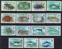 ASCENSION - 1991 FISHES SET (15V) FINE MNH ** SG 554-568 - Ascension