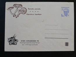 Champignon Mushroom Congress Of Mycology Entier Postal Stationery Tchecoslovaquie 1994 - Mushrooms