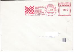 K264 Slovakia Red Meter Freistempel EMA 1993 BRATISLAVA Junior World Chess Championship Championnat Du Monde D'échecs - Cartas