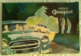 Dépliant Publicitaire 1957 PEUGEOT Modèle 403 - Automobile Berline Cabriolet Familiale Grand Luxe Illustrateur Moris - Cars