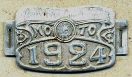 PLAQUE FISCALE MOTO - 1924 - Revenue Stamps
