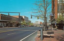 Nashua New Hampshire, Main Street Looking North, Autos, Business District, C1970s/80s Vintage Postcard - Nashua