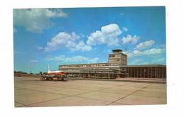 OTTAWA, Ontario, Canada, The Airport, TCA Prop Airplane, Old Chrome Postcard - Sonstige