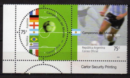 Argentina 2002 Football World Champions Of The 20th Century.flag & Players From World Football Championships 1978 & 1986 - Nuovi