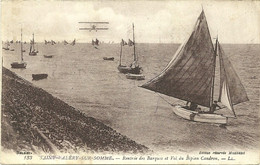 SAINT VALERY SUR SOMME  - LL - SAIL - FISHING - AREOPLANE - ARMY POST OFFICE POSTMARK - WW1 - 1918 - FRANCE - Saint Valery Sur Somme