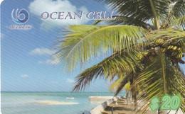 KIRIBATI - Beach, Ocean Cell Recharge Card $20, Exp.date 04/11/19, Used - Kiribati