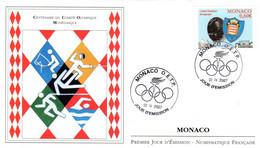 """"""" 100 ANS DU COMITE OLYMPIQUE MONEGASQUE """" Sur Enveloppe 1er Jour De 2007 De Monaco. Parfait état. FDC - Other"""